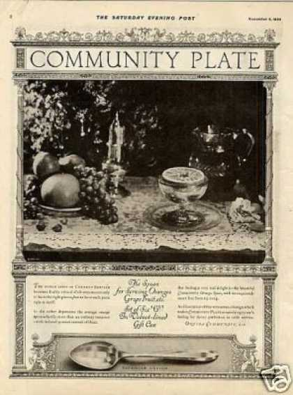 Community Silverplate Ad Patrician Pattern (1920)