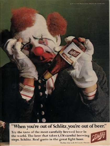 """When you're out of Schlitz, you're out of beer"" (1967)"