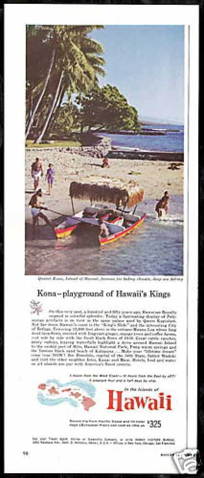 Hawaii Travel Kona Island Photo Vintage (1959)