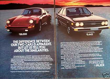 Porsche Carrera Compare To Audi 2pg Car Photo (1977)