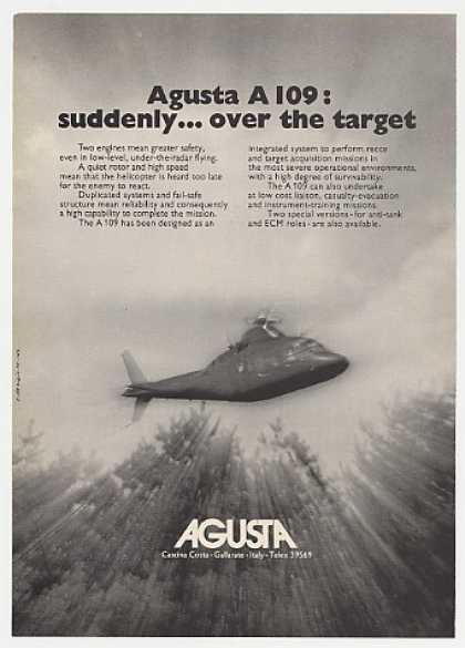 Agusta A 109 Military Helicopter Photo (1976)