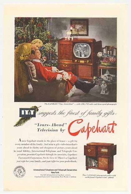 IT&T Capehart New Amsterdam TV Radio Phonograph (1950)