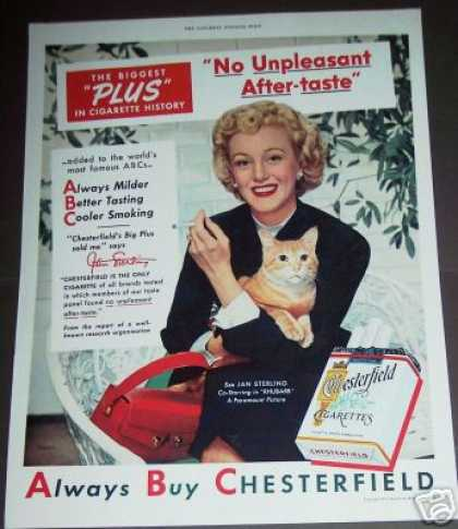 Jan Sterling and Cat Photo Chesterfield (1951)