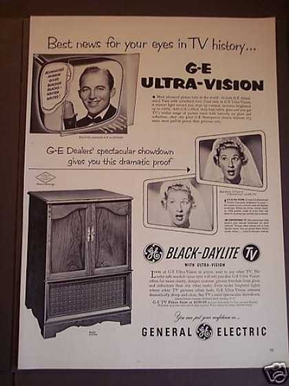 Ge Televsion Sets Bing Crosby Joan Davis (1953)