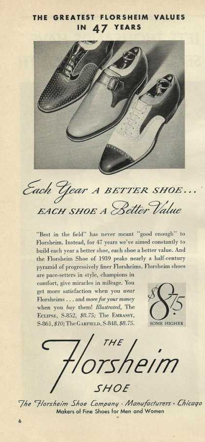 Florsheim Mens Dress Shoes (1939)