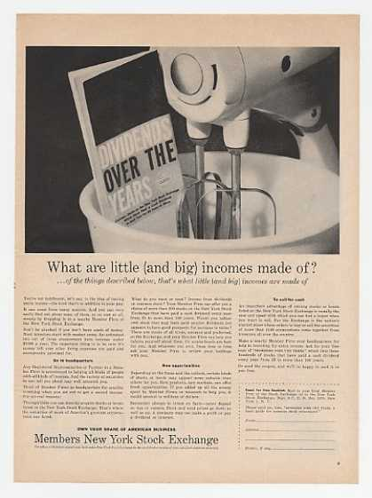 NYSE Dividends Little Big Incomes Made of Mixer (1958)