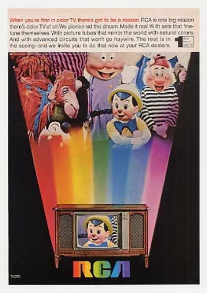 Pinocchio Disney Characters RCA Color TV (1968)
