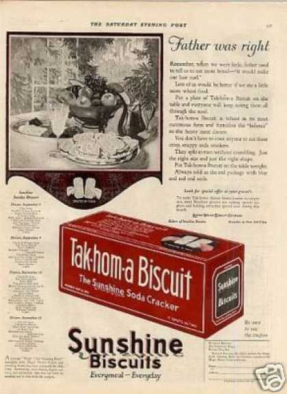 Sunshine Tak-hom-a Biscuits Color (1923)