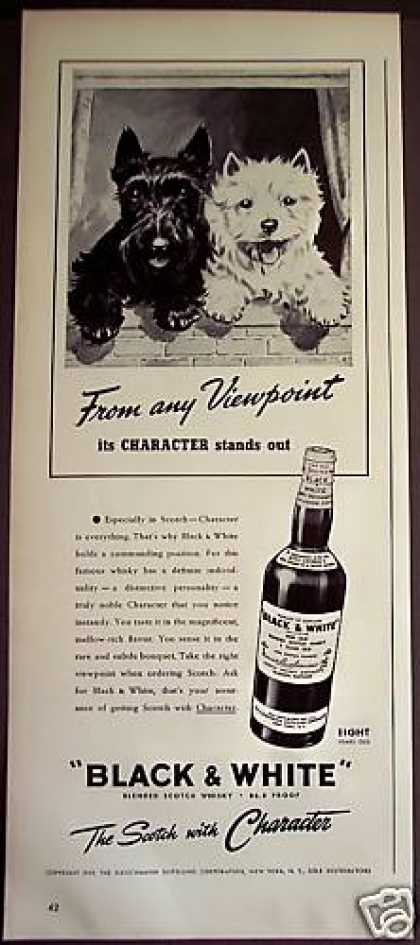 Scottish Terrier Dogs Black & White Whisky (1939)