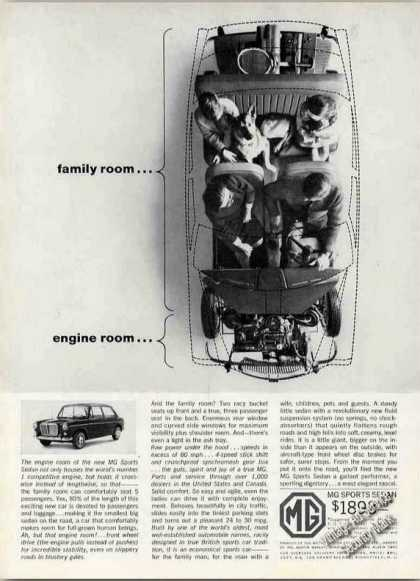 Mg Sports Sedan Family Room/engine Room Car (1963)