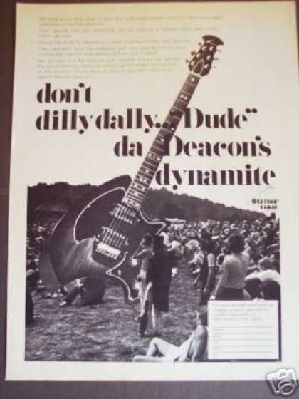 Rock Festival Photo Ovation Deacon Guitar (1974)