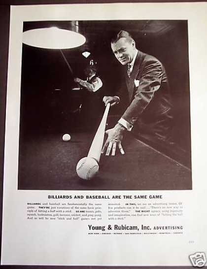 Billiards and Baseballs Young & Rubicam (1941)