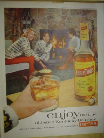 Early Times Bourbon. Old style Kenucky bourbon (1961)