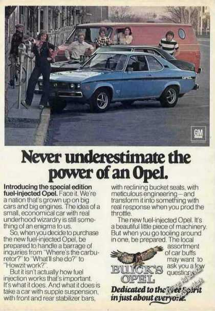 Opel Never Underestimate the Power Car (1975)