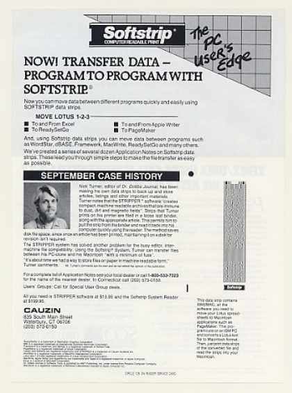 Cauzin Softstrip Computer Data Strip (1986)