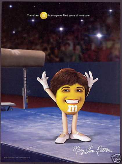 M & M's M&M's Candy Mary Lou Retton Gymnastics (2008)