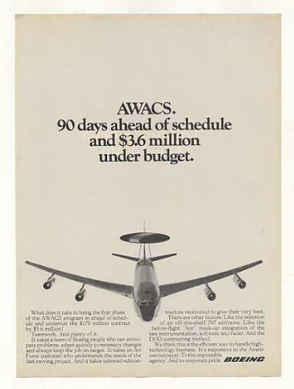 Boeing 707 AWACS Aircraft Photo (1973)