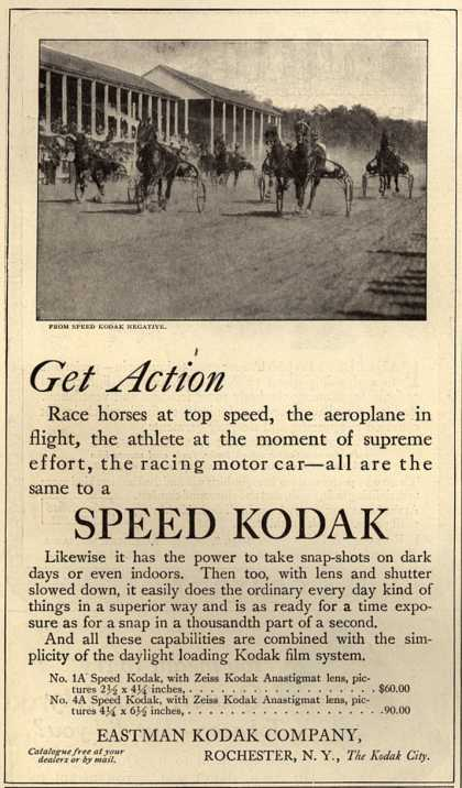 Kodak – Get Action Speed Kodak (1912)