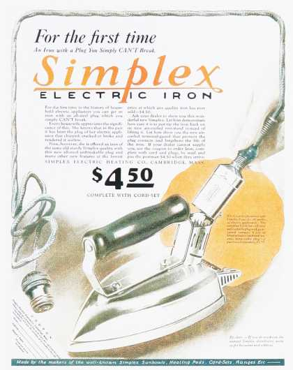 Simplex Electric Iron