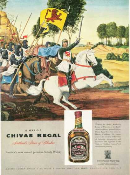 Chivas Regal Whisky Robert the Bruce (1958)