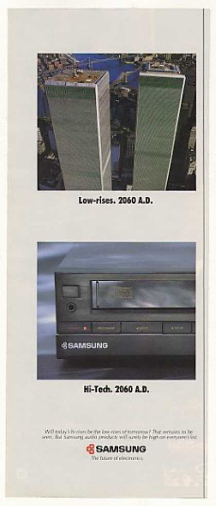 Samsung CD Player NY WTC Twin Towers Low-Rise (1989)