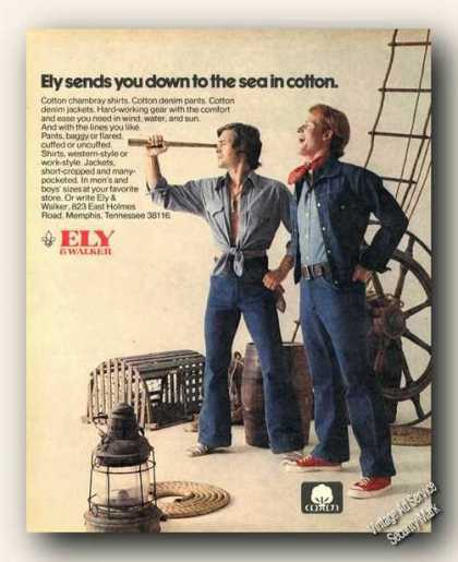 Ely &amp; Walker Down To the Sea In Cotton Advertising (1973)