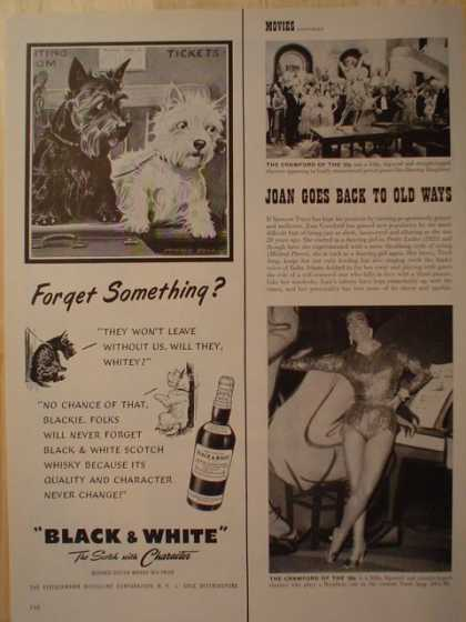 Black and White Scotch Terriers Forget Something? 1/2 pg (1953)
