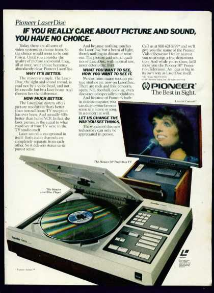 "Pioneer Laserdisc Player & 50"" Projection Tv (1982)"
