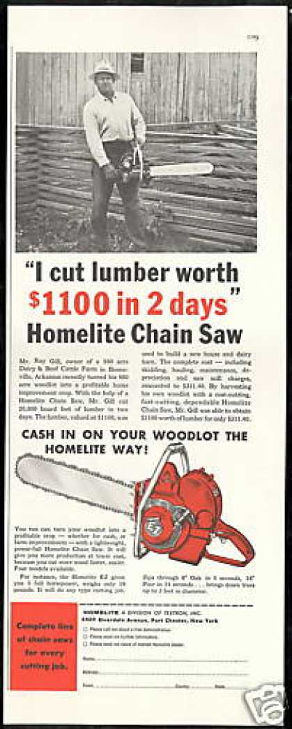 Homelite Chain Saw EZ Booneville Arkansas (1956)