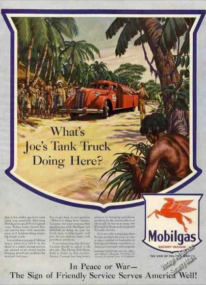 "Wwii Mobilgas ""Joes Tank Truck In Africa"" (1943)"