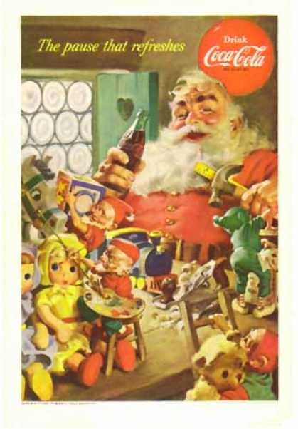 Coke Christmas – Santa and elves (1953)