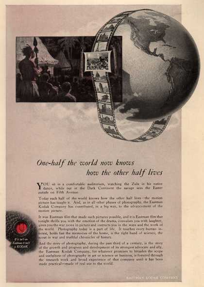 Kodak – One-half the world now knows how the other half lives (1919)