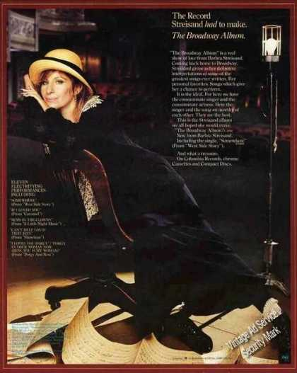 "Nice Barbara Streisand Photo ""Broadway Album"" (1985)"
