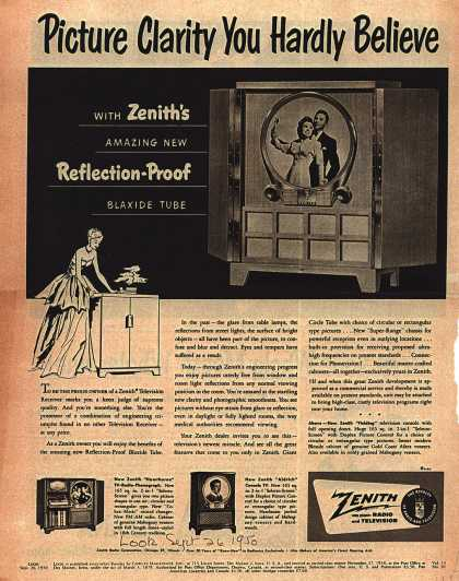 Zenith Radio Corporation's Television – Picture Clarity You Hardly Believe (1950)
