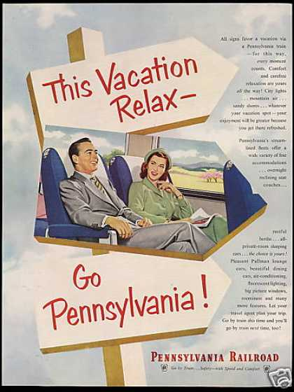 Pennsylvania Railroad Train Vacation (1952)