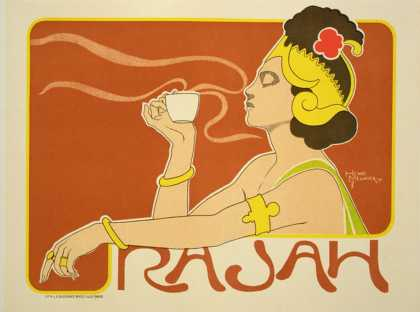 "Reproduction of a Poster Advertising the ""Cafe Rajah,"" (1897)"