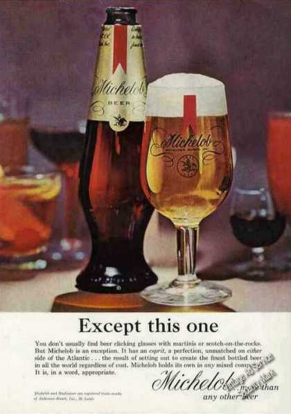 "Nice Michelob Beer Ad ""Except This One"" (1964)"