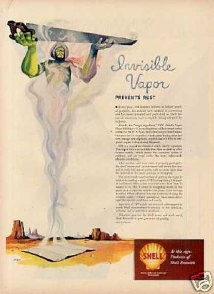 "Shell Ad ""Invisible Vapor"" Siebel Art (1949)"