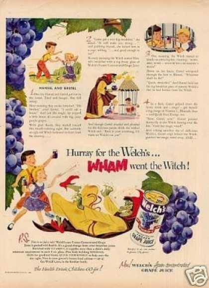 "Welch's Grape Juice Ad ""Hansel and Gretel... (1951)"