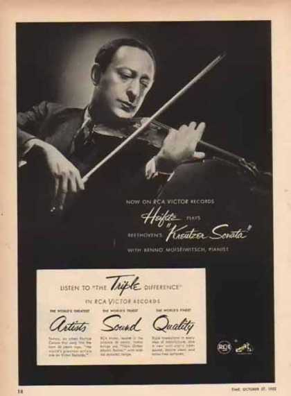 RCA Corporation of America Jascha Heifetz (1952)