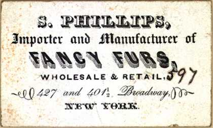 S. Phillip's furs (fancy) – S. Phillips, Importer and Manufacturer of Fancy Furs