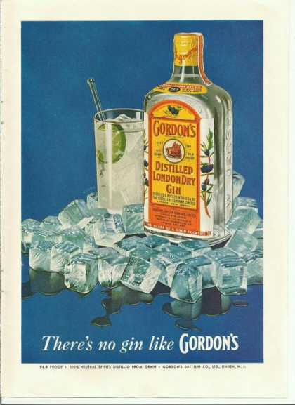 Gordons Distilled London Dry Gin (1955)