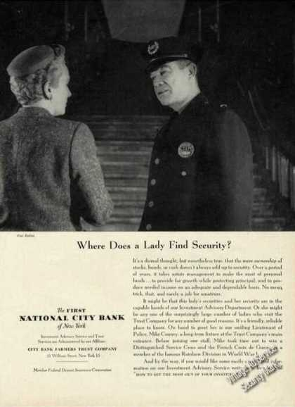 Where Does a Lady Find Secruity National City (1956)