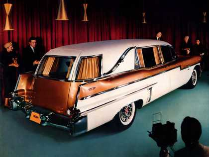 Miller-Meteor Futura Landau Panoramic Funeral Coach on Cadillac commercial chassis (1957)