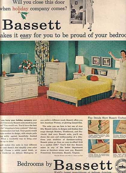 Vintage furniture ads of the 1950s page 2 - Bassett bedroom furniture 1970 s ...