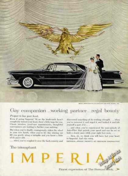 Chrysler Imperial Bride & Groom Glamour Shot (1958)