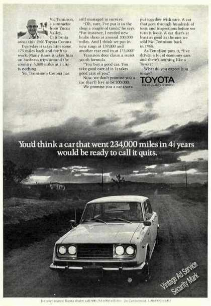 - 1966 Toyota With 234,000 Miles Won't Quit (1972)