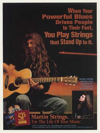 Rory Block Martin Guitar Strings Photo (1997)