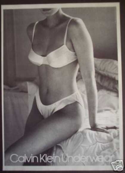 Sexy Model Photo Calvin Klein Underwear (1988)