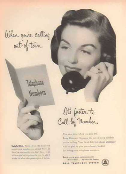 Bell Telephone System &#8211; It&#8217;s faster to call be Number (1952)